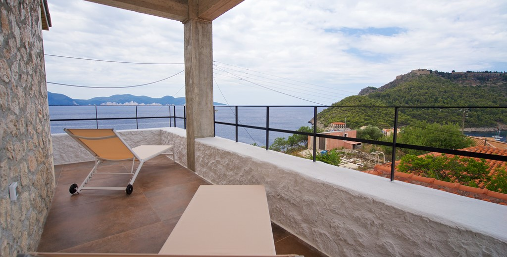 Views from the veranda at Villa Vivere, Assos, Kefalonia