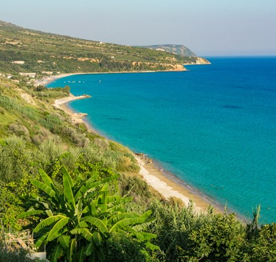 Sea views and beaches of Lourdata, Kefalonia, Greek Islands