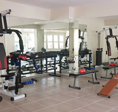 Magnolia Apartments have their own gym to keep in shape while you're on your summer holiday in Fiscardo, Kefalonia, Greek Islands