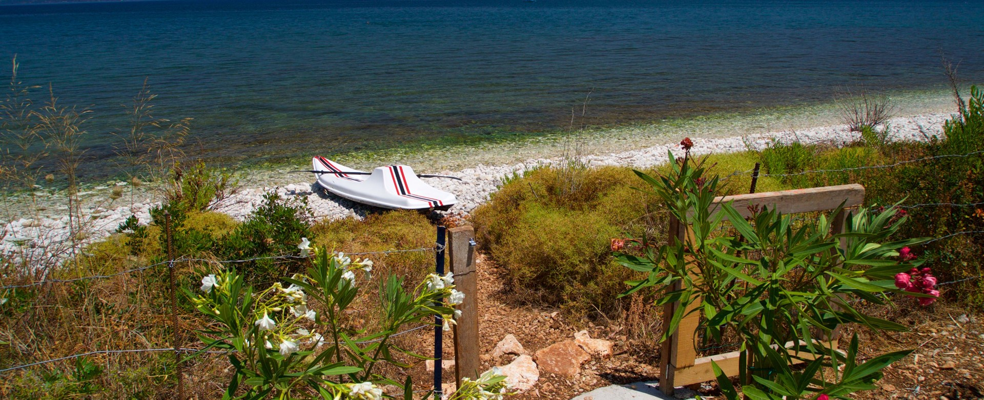 Beach access from Villa Frydi, Karavomilos, Kefalonia, Greek Islands