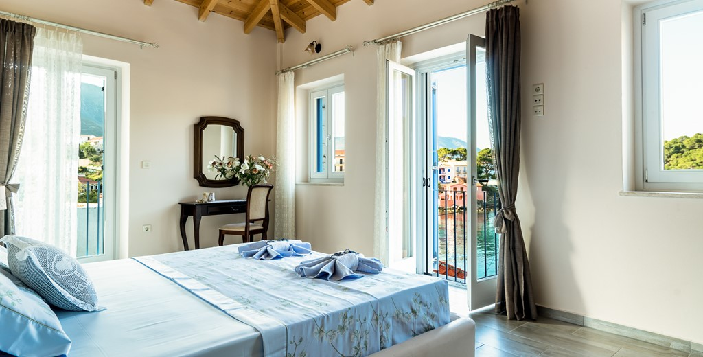 Beautiful double aspect room with a view at Villa Petrino, Assos, Kefalonia, Greek Islands