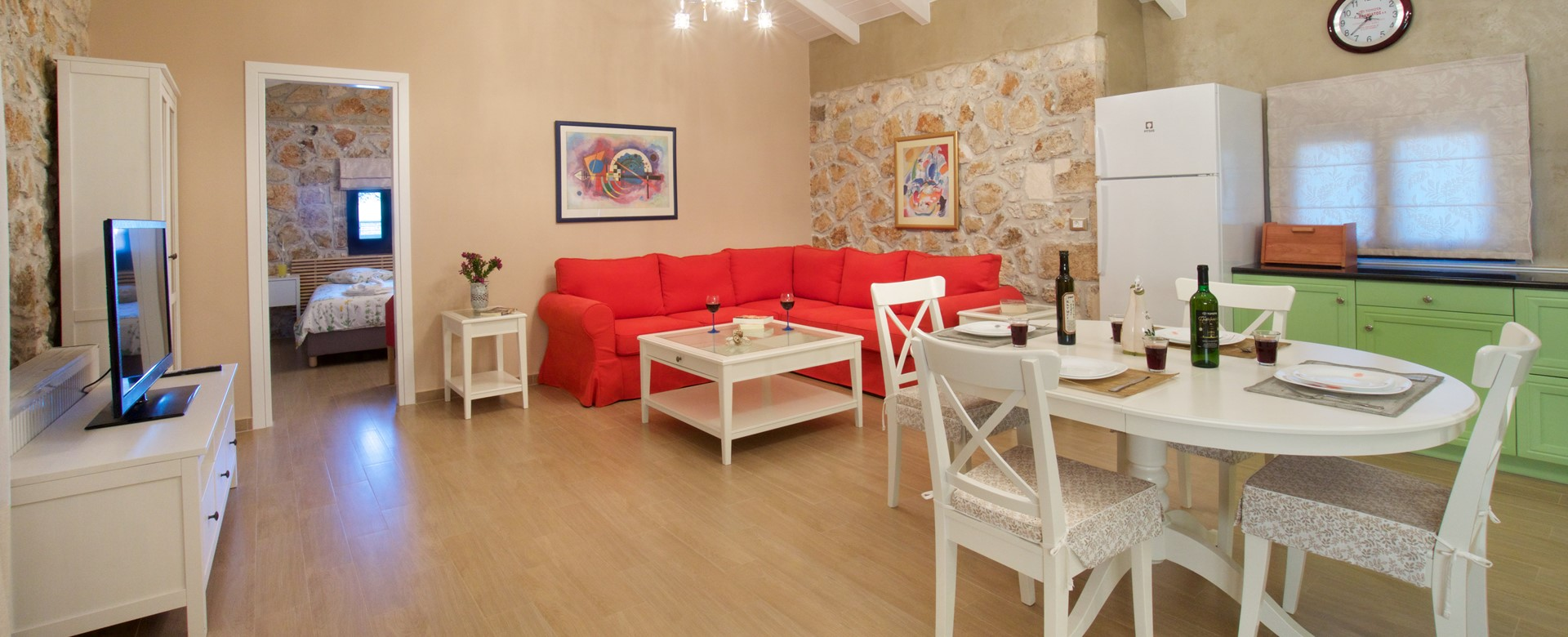 Spacious open plan living, perfect for entertaining at Villa Theano, Sami, Kefalonia, Greek Islands